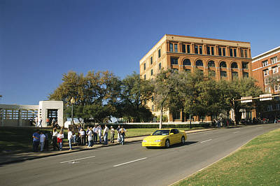 Dealey Plaza, Book Depository And Site Print by Richard Nowitz