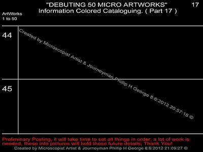 Debuting 50 Micro Artworks Part 17  Print by Phillip H George