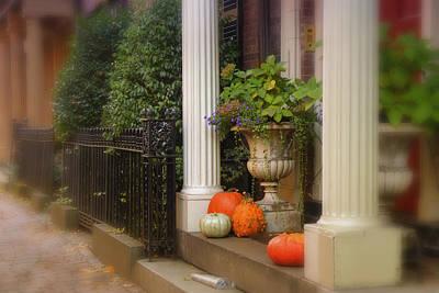 Fall Photograph - Decorated Doorsteps by Joann Vitali