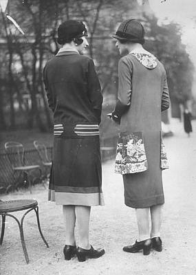 Cloche Hat Photograph - Decorated Dresses by Seeberger Freres