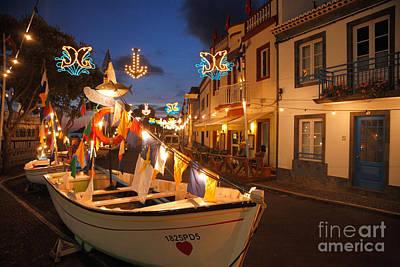 Decorated Fishing Boats Print by Gaspar Avila