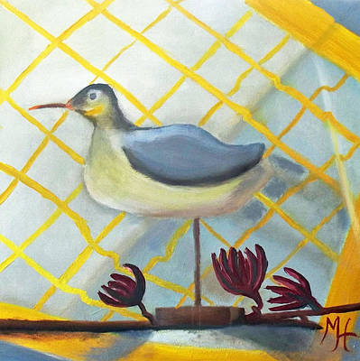 New Orleans Oil Painting - Decoy On A Stand by Margaret Harmon
