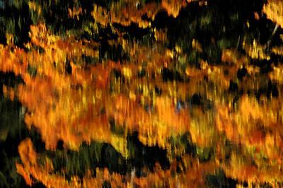 Leaf Photograph - Deep Fall Reflections by LeeAnn McLaneGoetz McLaneGoetzStudioLLCcom