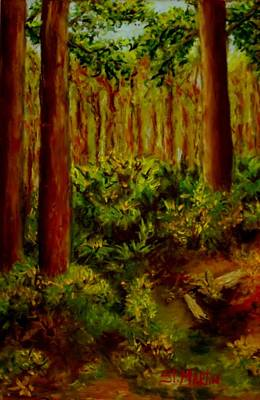Deep In The Pines Print by Annie St Martin