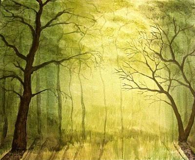 Deep Woods Print by Heather Matthews