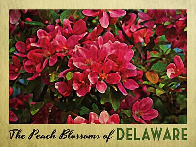 Delaware Peach Blossoms Print by Flo Karp