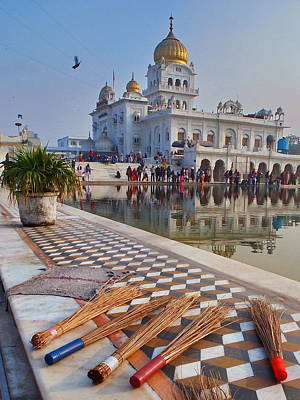 Delhi - Gurudwara Sikh Temple Print by Stefan Hajdu