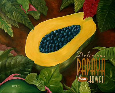 Digital Art - Delicious Hawaiian Papaya by Mark Kingsley Brown