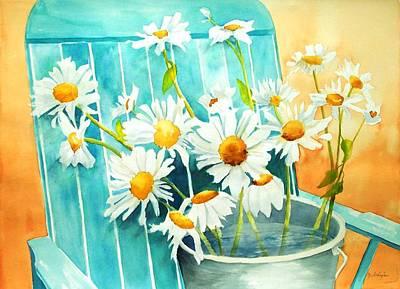 Maryann Painting - Delightful Daisies by Maryann Schigur