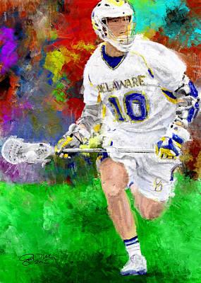 Lacrosse Painting - College Lacrosse Midfielder 2 by Scott Melby
