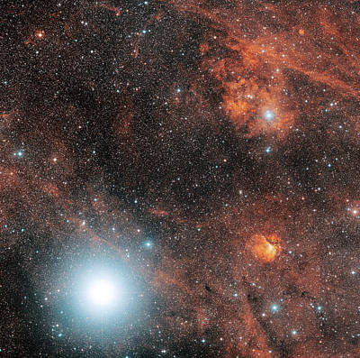 Deneb And Emission Nebulae Print by Davide De Martin