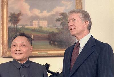 Carter House Photograph - Deng Xiaoping And Jimmy Carter by Everett