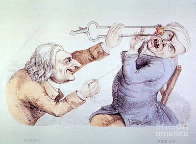Dentistry Tooth Extraction 1810 Print by Science Source