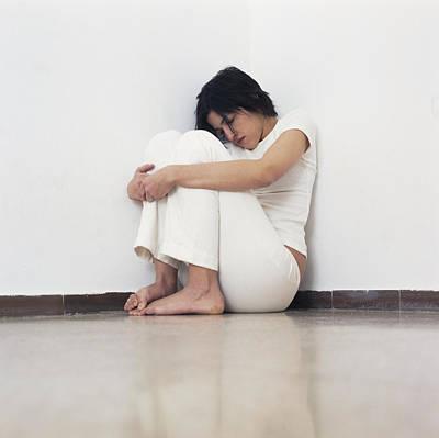 Depressed Woman Print by Cristina Pedrazzini