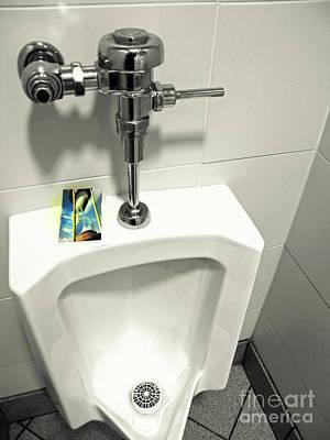 Urinal Photograph - Dept Of Change And Time Mgmt by Joe Jake Pratt