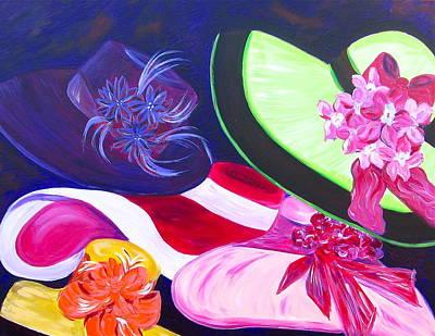 Hats Painting - Derby Hats II by Dani Altieri Marinucci