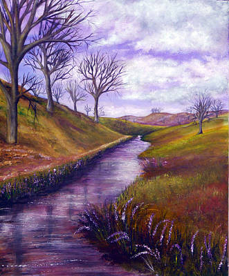 Acrylic Painting - Derbyshire Brook by Ann Marie Bone