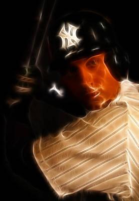 Shortstop Photograph - Derek Jeter - New York Yankees - Baseball  by Lee Dos Santos