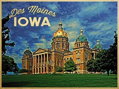 Iowa Digital Art - Des Moines Iowa by Flo Karp