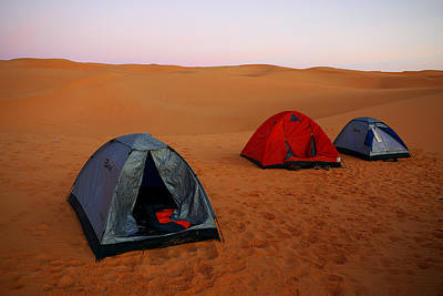 Brown Photograph - Desert Camping by Ivan Slosar