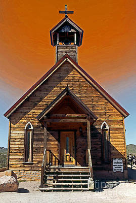 Old Town Digital Art - Desert Church II by Linda  Parker