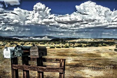 Pioneertown Photograph - Desert Mailboxes by Danuta Bennett