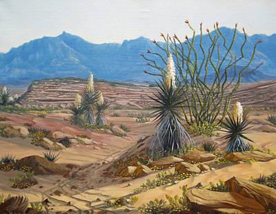 Desert Streams Print by Rick Mittelstedt