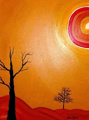 Tree Painting - Desertica I by Diana Martinez