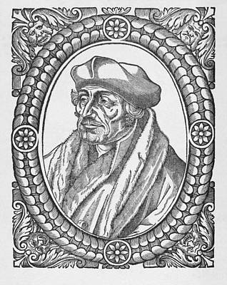 Free Will Photograph - Desiderius Erasmus, Dutch Theologian by Middle Temple Library