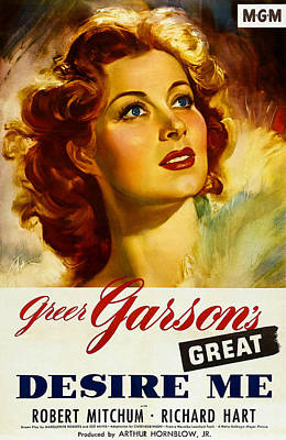 1940s Movies Photograph - Desire Me, Greer Garson On 1-sheet by Everett
