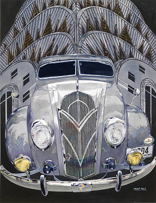 Mike Hill Painting - Desoto And Deco Design by Mike Hill