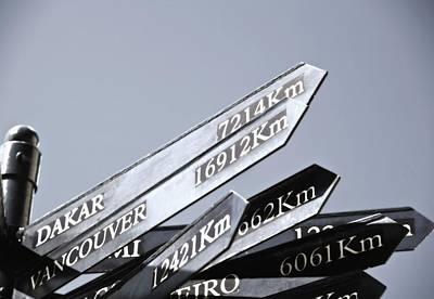 Destination Sign Print by Carson Ganci