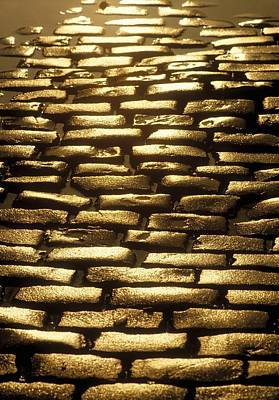 Background And Textures Photograph - Detail Of Cobblestones, Dublin, Ireland by The Irish Image Collection