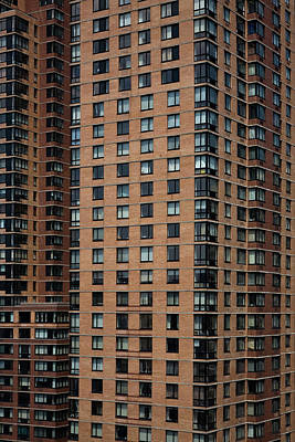 Repetition Photograph - Detail Of High Rise-buildings, Manhattan, New York City, Usa by Frederick Bass