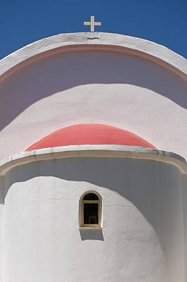 Detail Of Small Church Between Limnes Print by Axiom Photographic