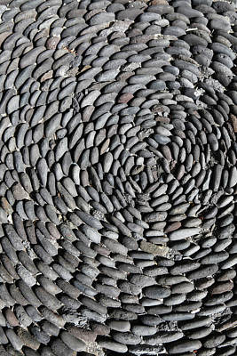 Part Of Photograph - Detail Of Stones Arranged In A Pattern On The Ground by Marc Volk
