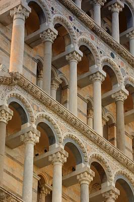 Medieval Temple Photograph - Detailed Close-up Of Piazza Del by Carson Ganci