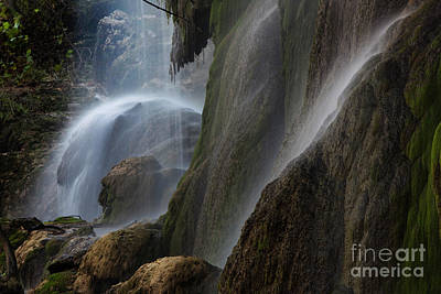 Detailed View Of Gorman Falls Print by Keith Kapple