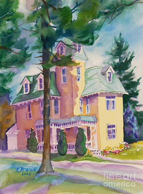 Historic Home Painting - Dewey-radke Glowing by Kathy Braud
