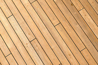 Diagonal Wooden Ship Deck Background Print by Brandon Bourdages