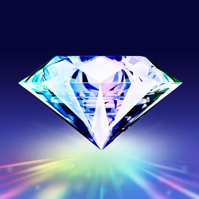 Brilliant Digital Art - Diamond by Setsiri Silapasuwanchai