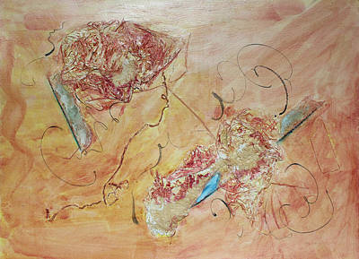 Diamonds And Rust  Tribute To Joan Baez Print by Asha Carolyn Young