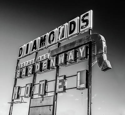 Sign Photograph - Diamonds Don't Always Sparkle by James Bull