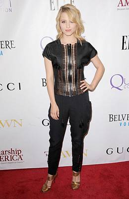 Dianna Agron Photograph - Dianna Agron Wearing Gucci by Everett