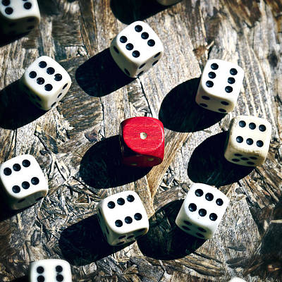 Playing Photograph - Dice by Joana Kruse