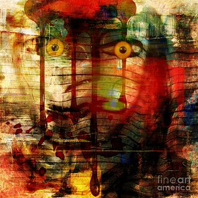 Ruins Mixed Media - Did You Say - Trust by Fania Simon