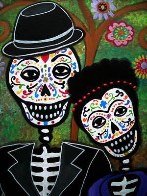 Skull Painting - Diego And Frida by Pristine Cartera Turkus