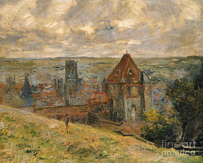 Rooftops Painting - Dieppe by Claude Monet
