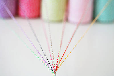 Different Colored Twine Twisting Together Print by © Stacey Winters  www.staceywinters.com