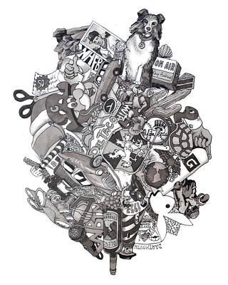 Sepia Ink Drawing - Difrancesco Legacy by Tyler Auman